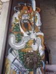 Detail of temple door