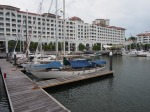 Straits Quay Marina - like being moored in a fishbowl but very friendly staff