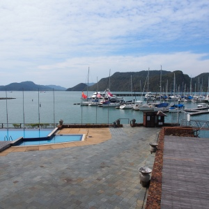 Looking south from the deck of the Royal Langkawi Yacht Club