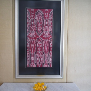 A great example of a Borneo Ikat seen in a hotel art gallery