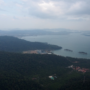 Overlooking the anchorage in Telaga Harbour, Langkawi