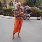 Luisa as a Buddhist noviate