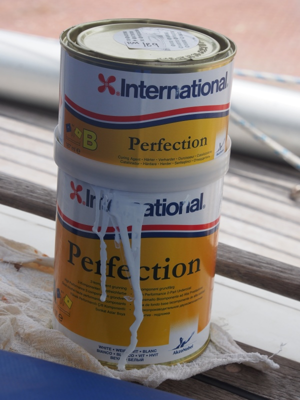 International is the most widely available boat paint so the choice is easy but expensive - about $100