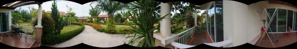 A first panorama shot.  Not very interesting but this has been our home for 3 weeks