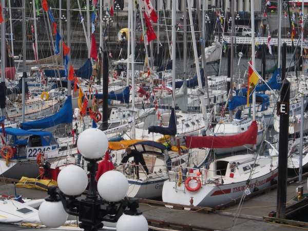 Swiftsure preparations - Victoria Harbour