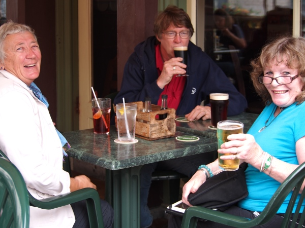 Connie, Nick and Annette at lunch
