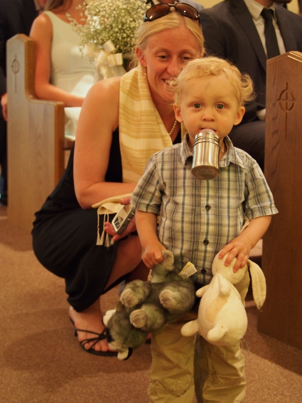 A future groom, Elias, and his Mum Eva