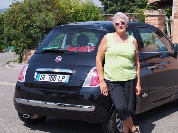 Connie's car - Fiat 500!
