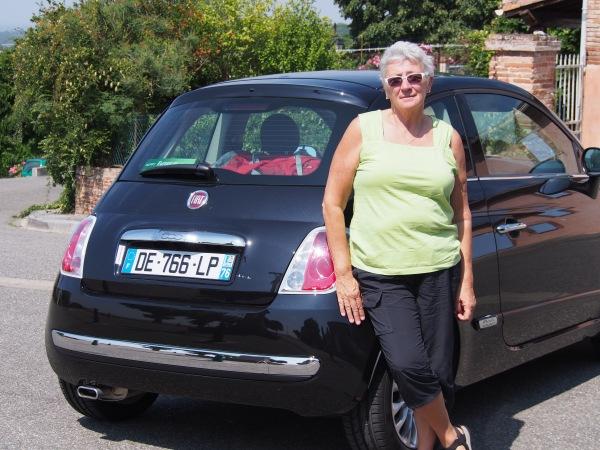 Connie's car - Fiat 500!