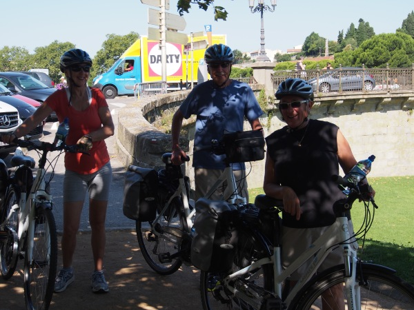 Cycle tour 2014 - the beginning. Beside the Canal du Midi about to head off