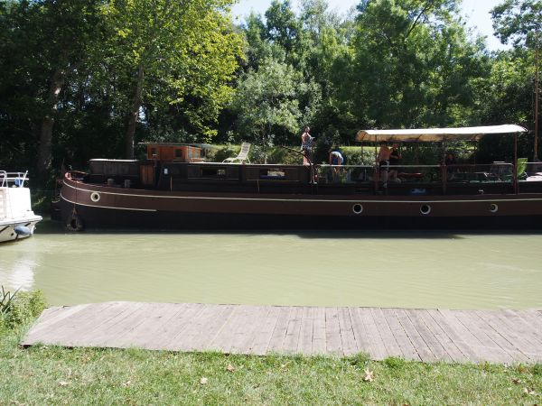 One of the converted old barges now used for tourist travel on the canal