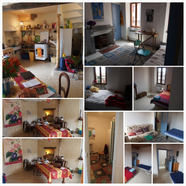 The inside of our home at #4 Place aux Herbes, Saissac