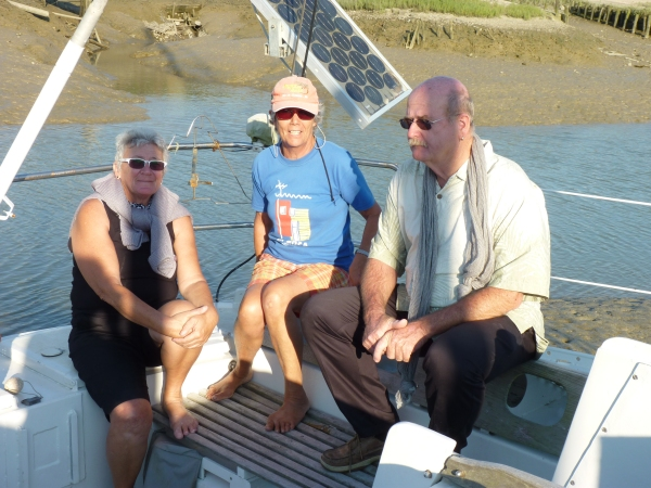 Visiting old sailing friends onboard Maris Stella