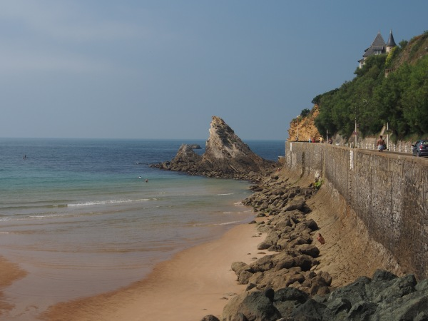 Southern shoreline of Biarritz