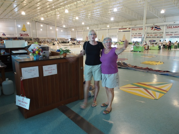 Lee and Connie at Rolly Taskers sail loft