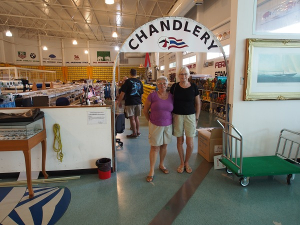 Connie and Lee at the chandlery