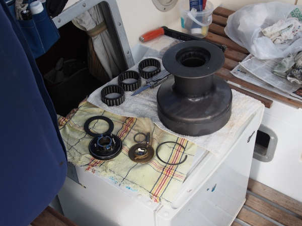 One of the main dismantled winches