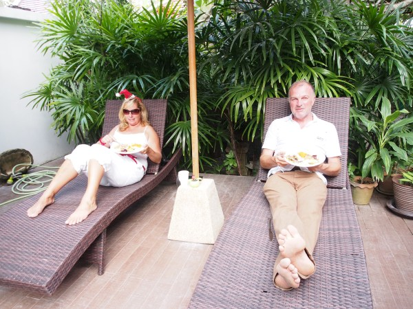 Not us but Joanne and Craig from Invictus Reward relaxing by the pool Christmas Day