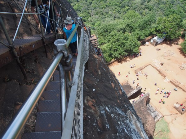 Climbing up the wall took a little nerve as the stairways clung to the rock face for part of the way
