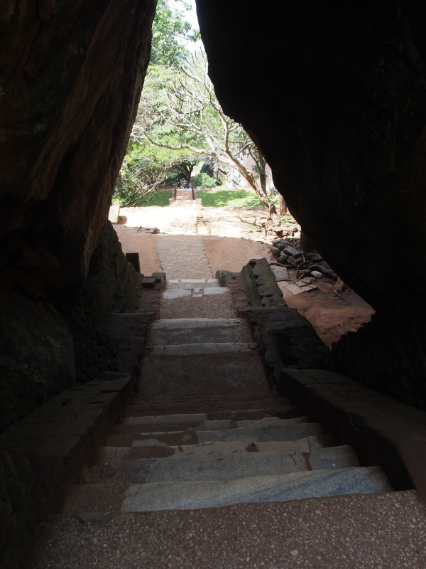 The entranceway to the lower portion of the rock face takes you through two giant rocks leaning against each other