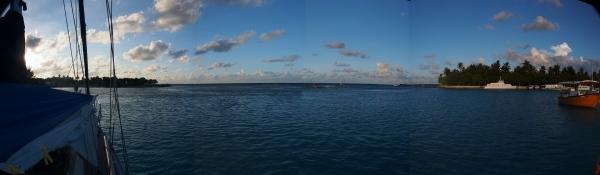 Panorama shot of the Gan anchorage