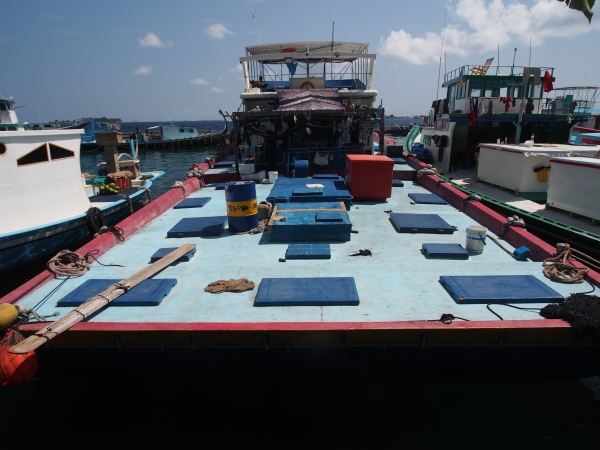 Impressive deck on this Maldivian fish boat