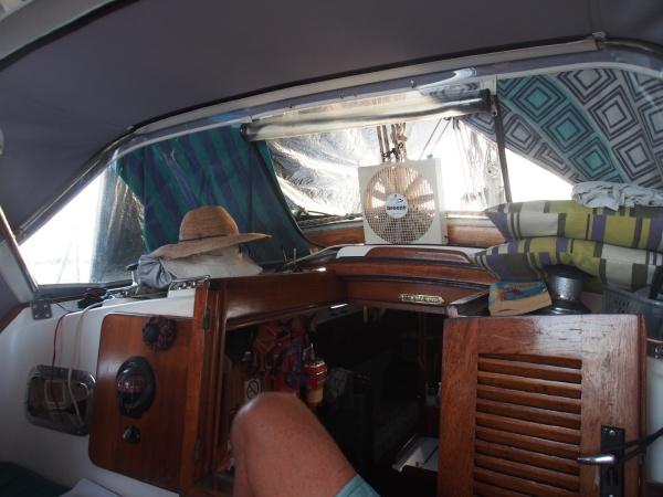 Cockpit fan onboard Silver Girl
