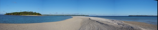 Chagos - a dune soon to become covered in mangrove then palms