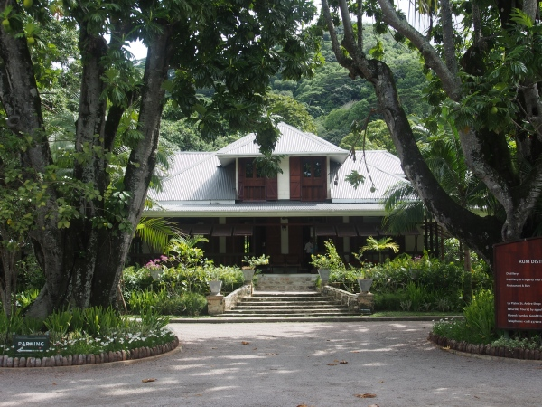 Takamaka rum distillery.  A beautiful property on their old estate