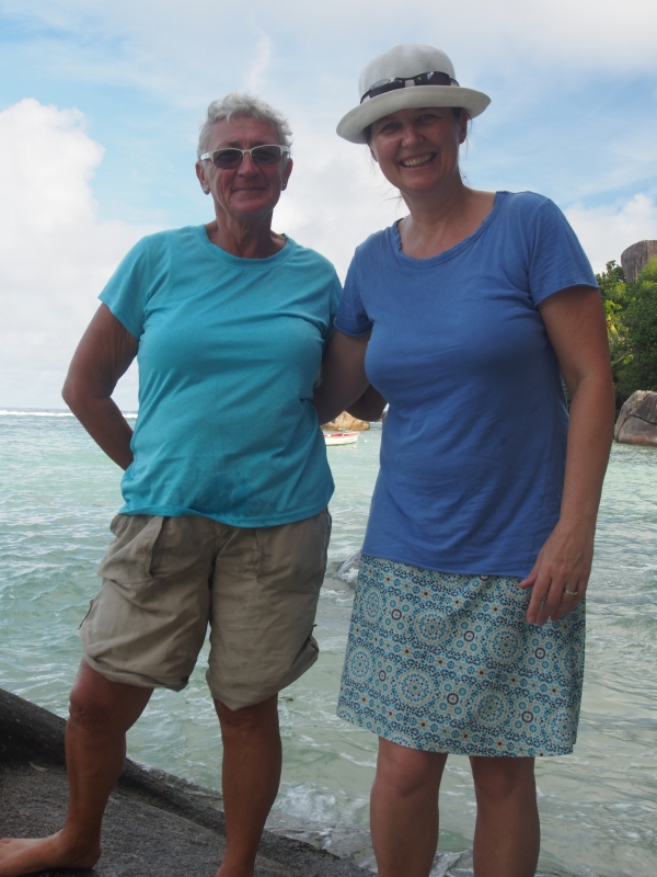 Connie and Jo on our round the Mahe Island tour