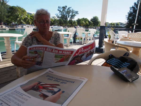 The yacht club is very close to downtown so returning to the club  for lunch and reading of the local papers is a good idea on Sundays
