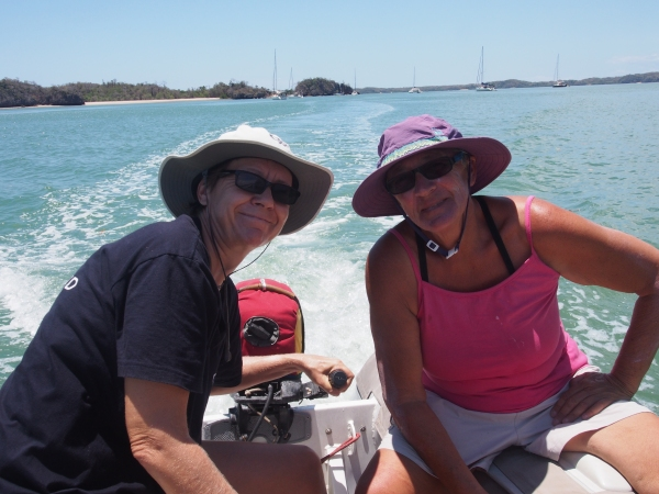 Looking good in the dinghy is important - here Kirsten from Lop To and Connie from Sage display the latest in dinghy wear