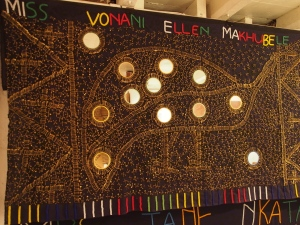 This is the South African equivalent to the button blanket of the Pacific North-West coastal aboriginals
