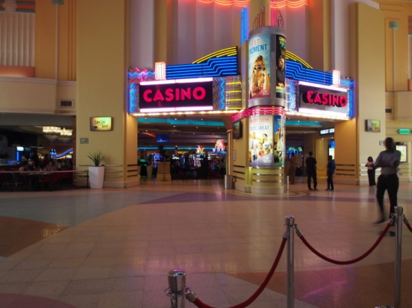 The casino is housed in part of the art deco structure along with shops and restaurants