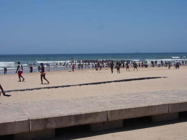 Addington Beach on a hot day