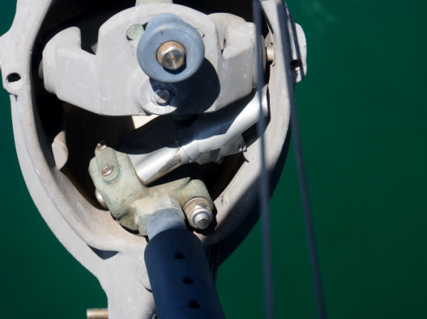 There was only one way to fix this offshore - duct tape. What a marvelous invention.