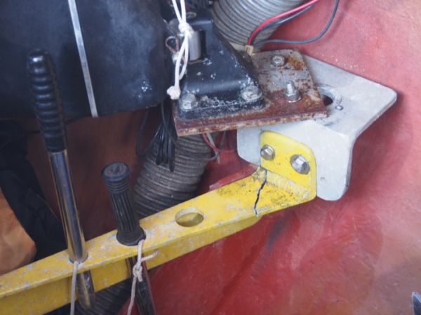 The electronic self steering which broke at the same time as the wind driven self steering