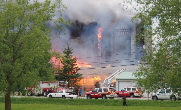 Dairy farm fire
